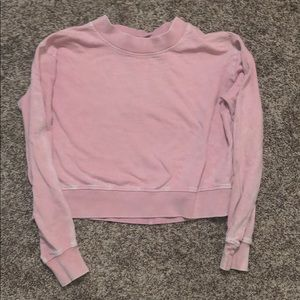 Pink Vanillastar cropped sweater.